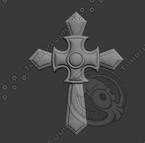 3D stl cross model