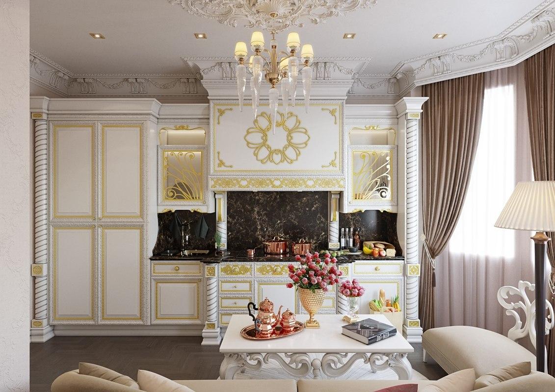 classic kitchen scene interior 3D model