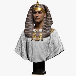 3D pharaoh model