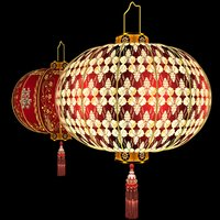 chinese red lantern 3D model