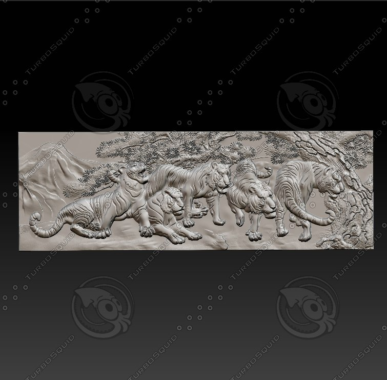 relief sculpture engraving 3D model