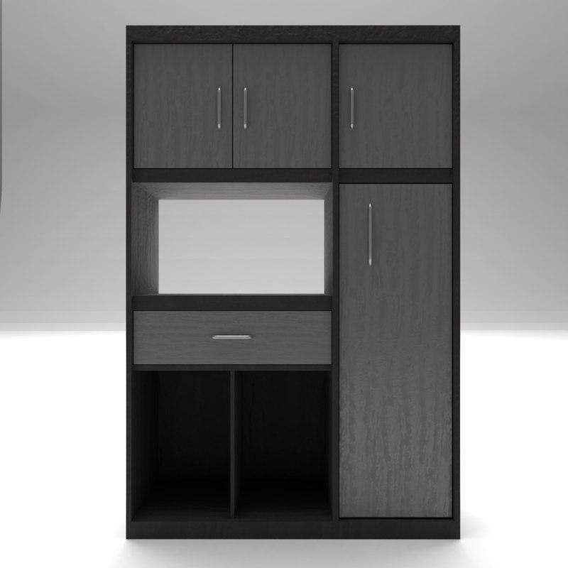 cupboard dark 3D model