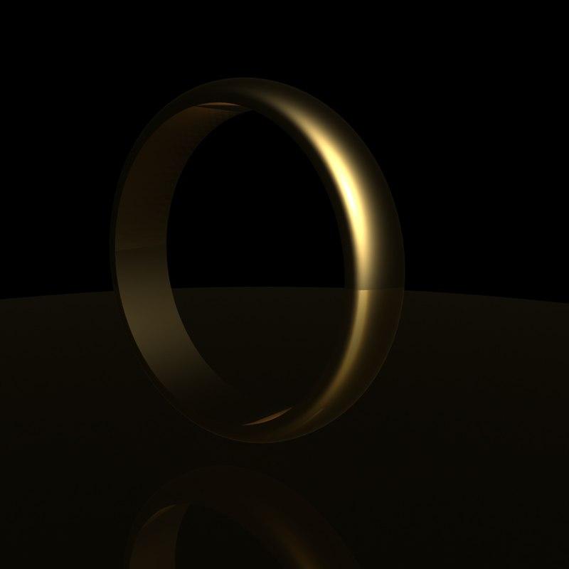 3D wedding ring loader model