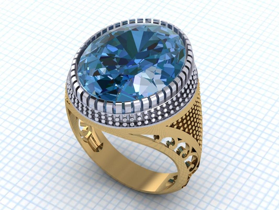 ring signet men 3D model