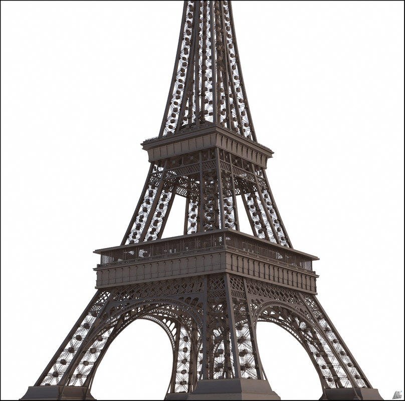 3D historic eiffel tower tour model