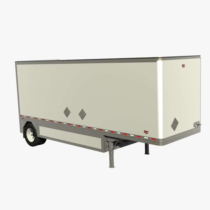 3D wabash 28ft van trailer