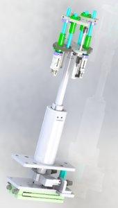 long stroke cylinder application model