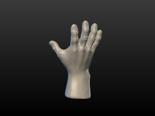 3D hand print ready model