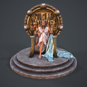 cleopatra modeled 3D