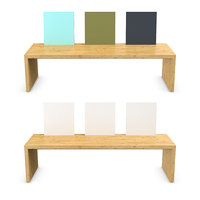 wooden bench wood 3D model