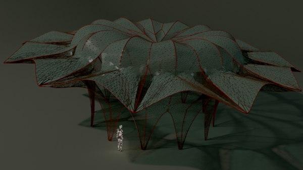 3D model fancy pavilion architectural