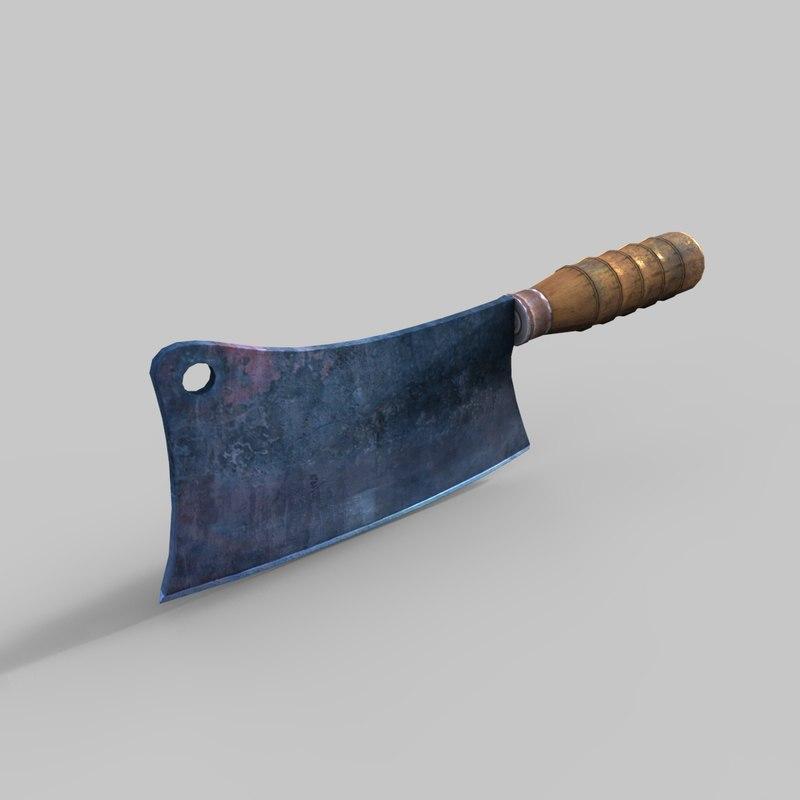cleaver knife 3D