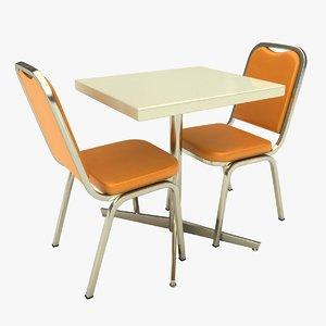 restaurant table single 3D model