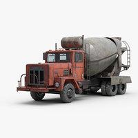 industrial cement mixer truck model