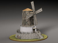 3D model old windmill