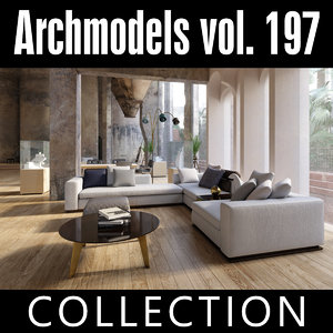 archmodels vol 197 sofas 3D model