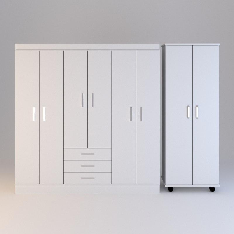 wardrobe set 3D model