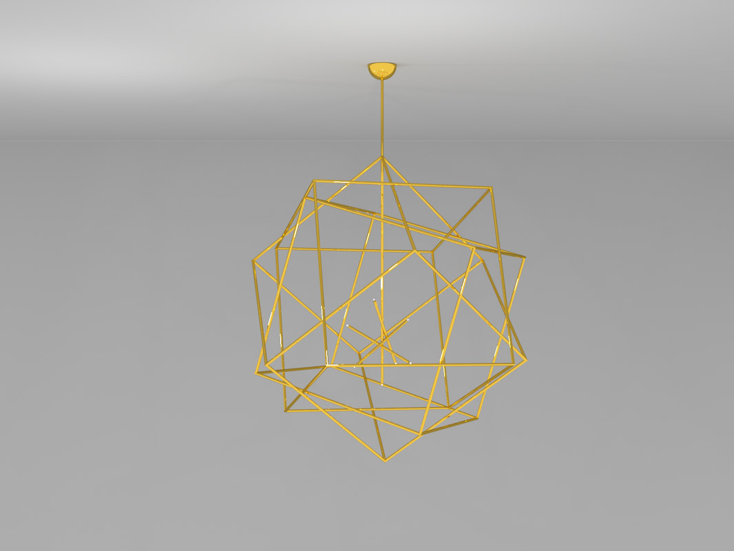 3D model chandelier polyedres hubert le