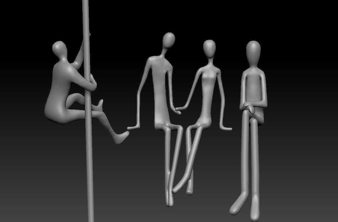 3D simple human