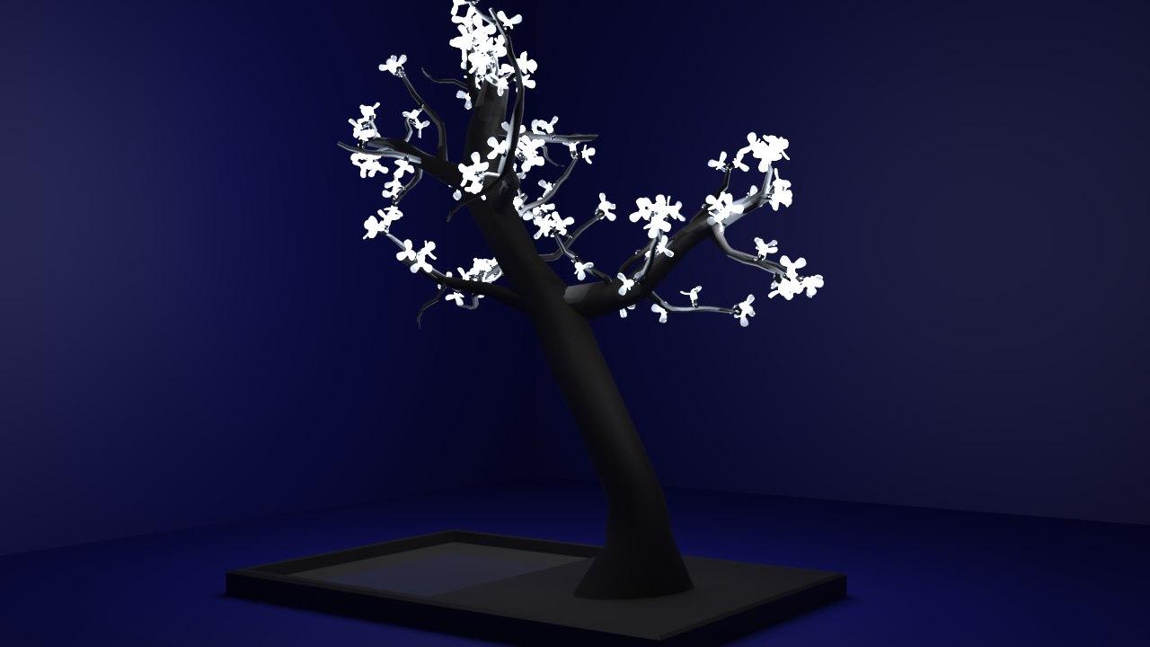 led tree 3D model