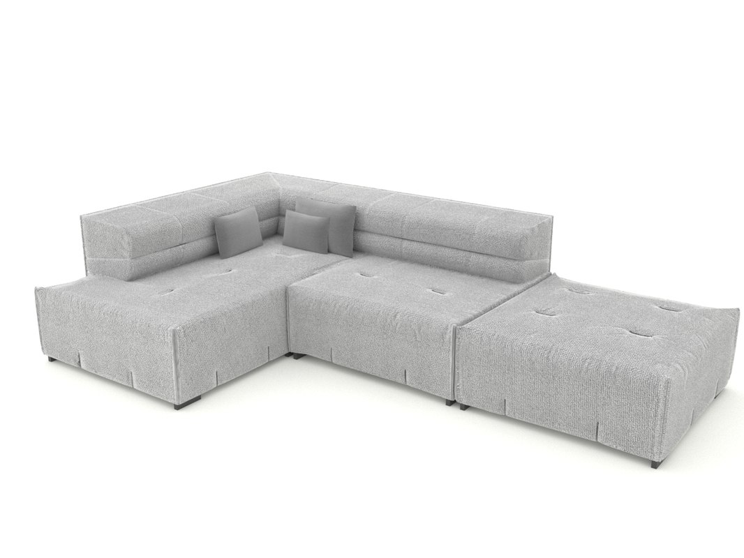 3D sofa tufty
