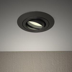 3D model ceiling spot light fixture
