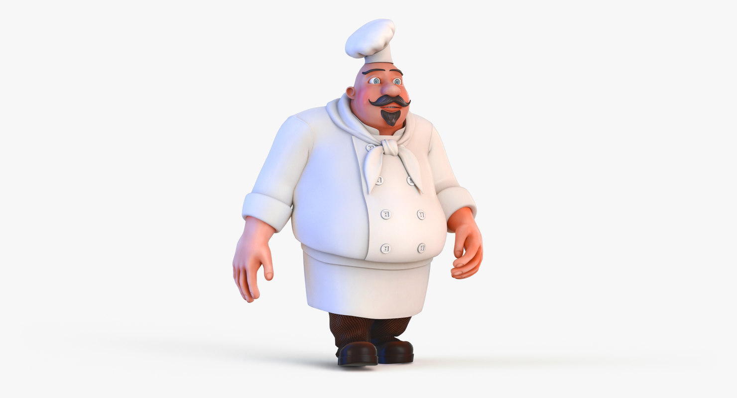 film animation cooking 3D model