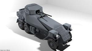 armoured car panzer 3D model
