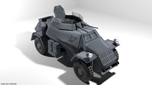 armoured panzerspahwagen model