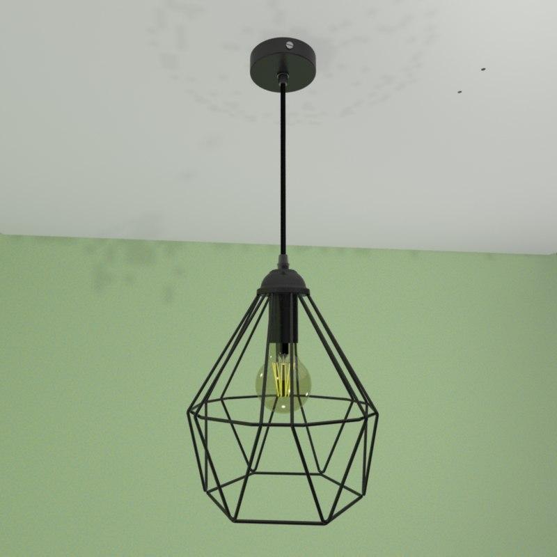 loft vintage lamp diamond model
