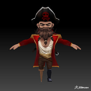 pirate games 3D model