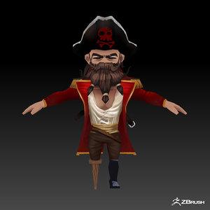 pirate games 3D model