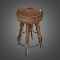 Bar Stool (Dive Bar) - PBR Game Ready