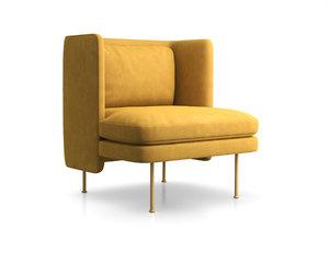 bloke velvet lounge chair 3D model