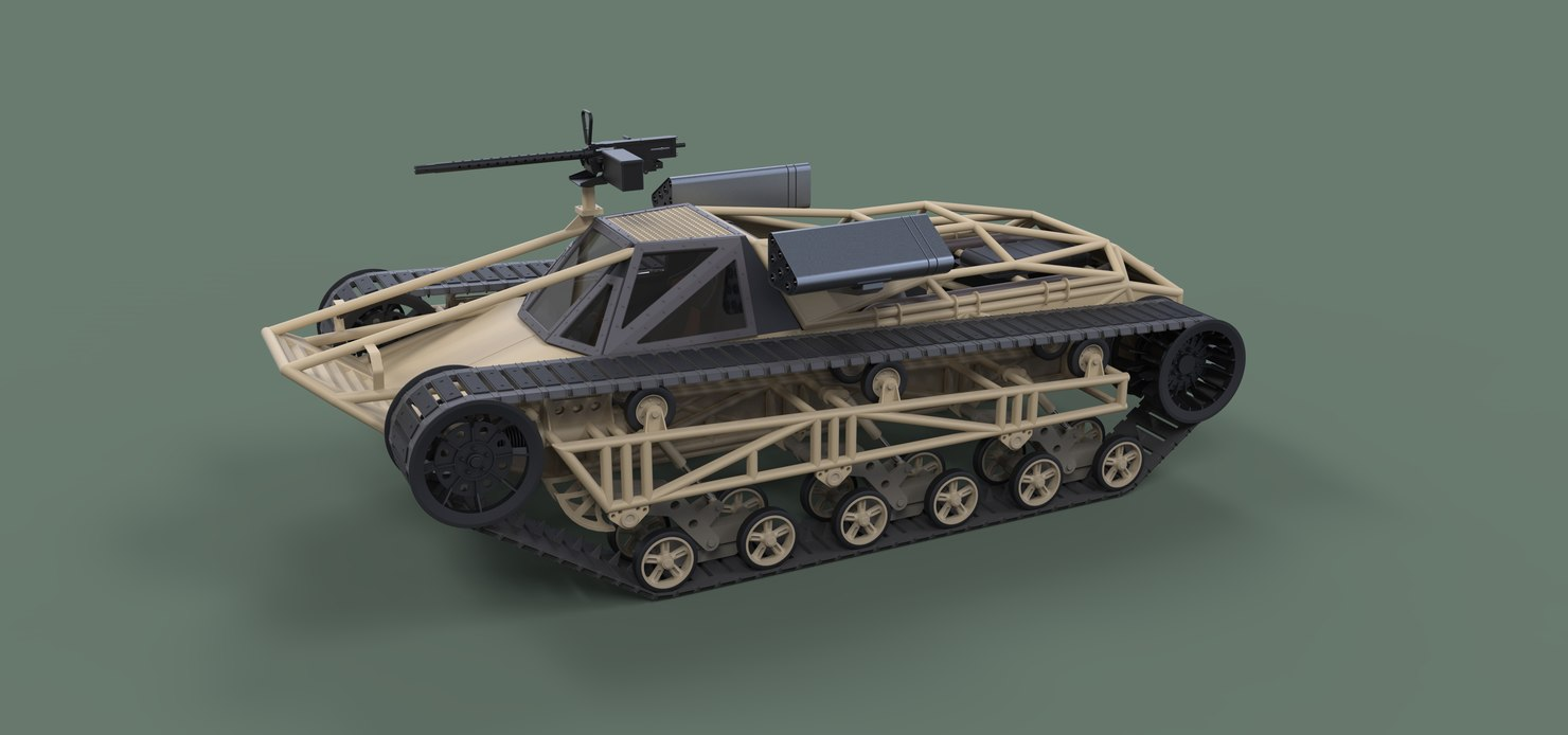 tracked vehicle movie 3D model