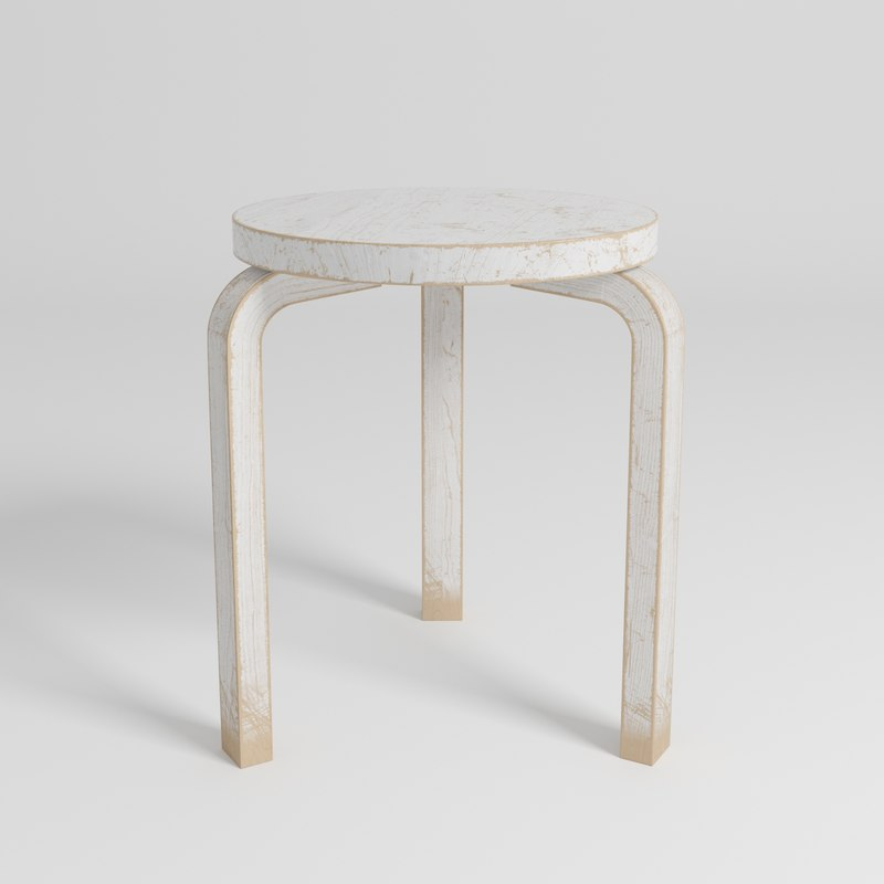 3D stool alvar aalto