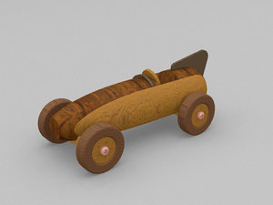 3D vintage toy car racer