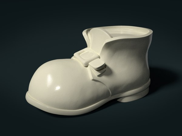 3D shoe boot fashion model