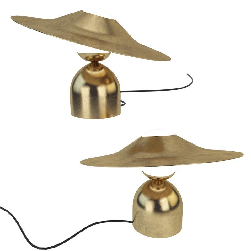 3D model ss disc bonbon lamps