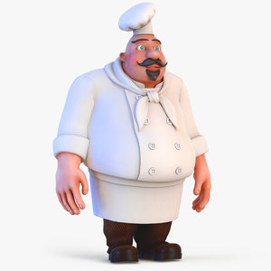 3D chef people character