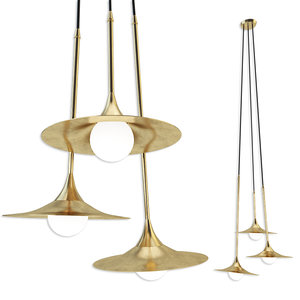 3D ss-3 disc pendant lamps model