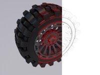 road wheel rim 3D