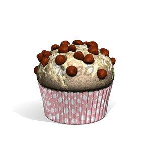 3D muffin chocolate