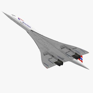 concorde complete 3D model
