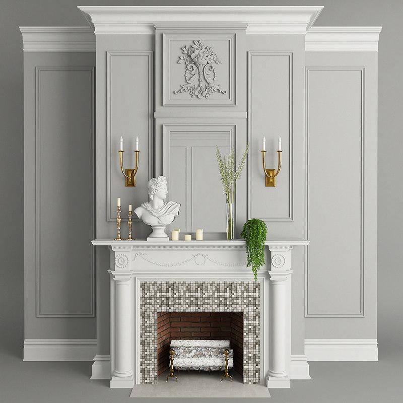 fireplace plant 3D
