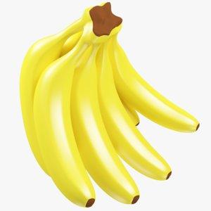 3D bananas modelled model