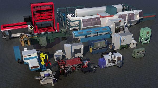 industrial machines 3D