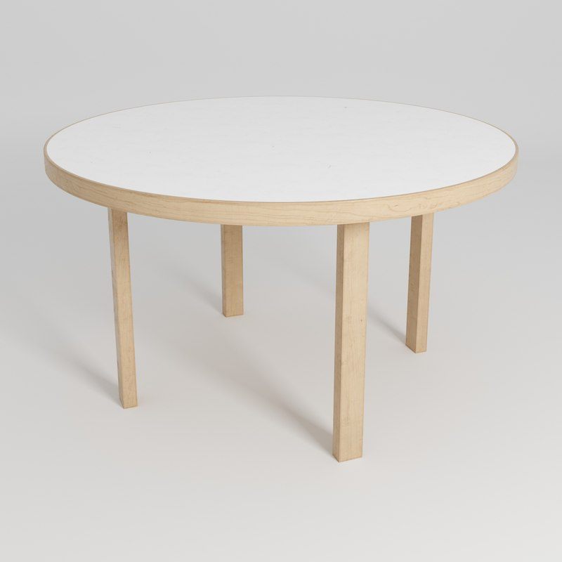 3D model table 91 alvar aalto
