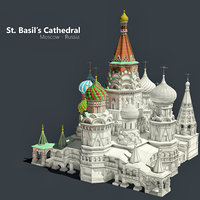 Highly Detailed St. Basil's Cathedral