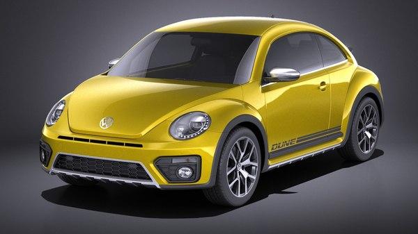 volkswagen beetle 2018 3D model